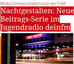 Bachelor-Studium Medienkommunikation & Journalismus